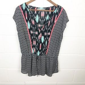 Maurices Short Sleeve Blouse